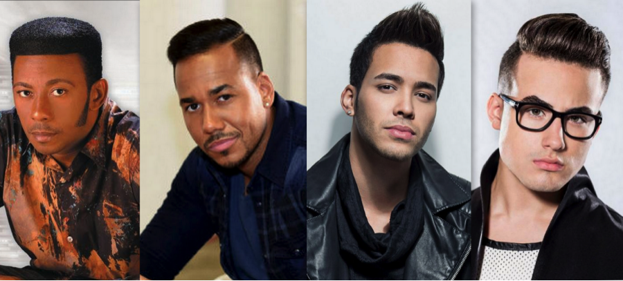 From left to right: Antony Santos, Romeo Santos, Prince Royce & newcomer Johnny Sky