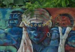 Mural in Nigua depicting a rebelling black woman. Source diarioaragones.com
