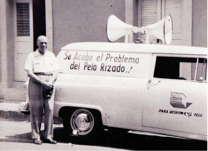 """Cuidad Trujillo, 1958 """"The end of the problems of curly hair"""" (courtesy of Imagenes de Nuestra Historia RD)"""
