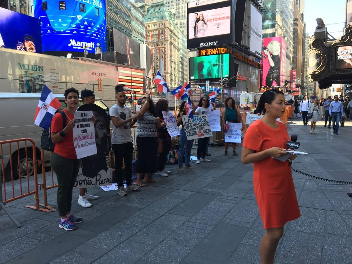 We Are All Dominican September 23, 2016 action in front of Dominican consulate in NYC, occurring at same time as the action outside of the Constitutional Tribunal in Santo Domingo.